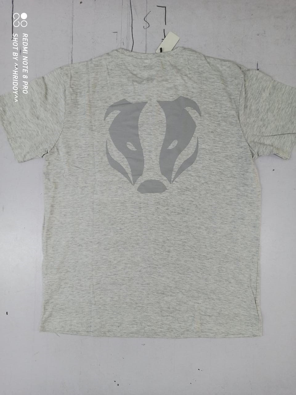 T-Shirt Grey back